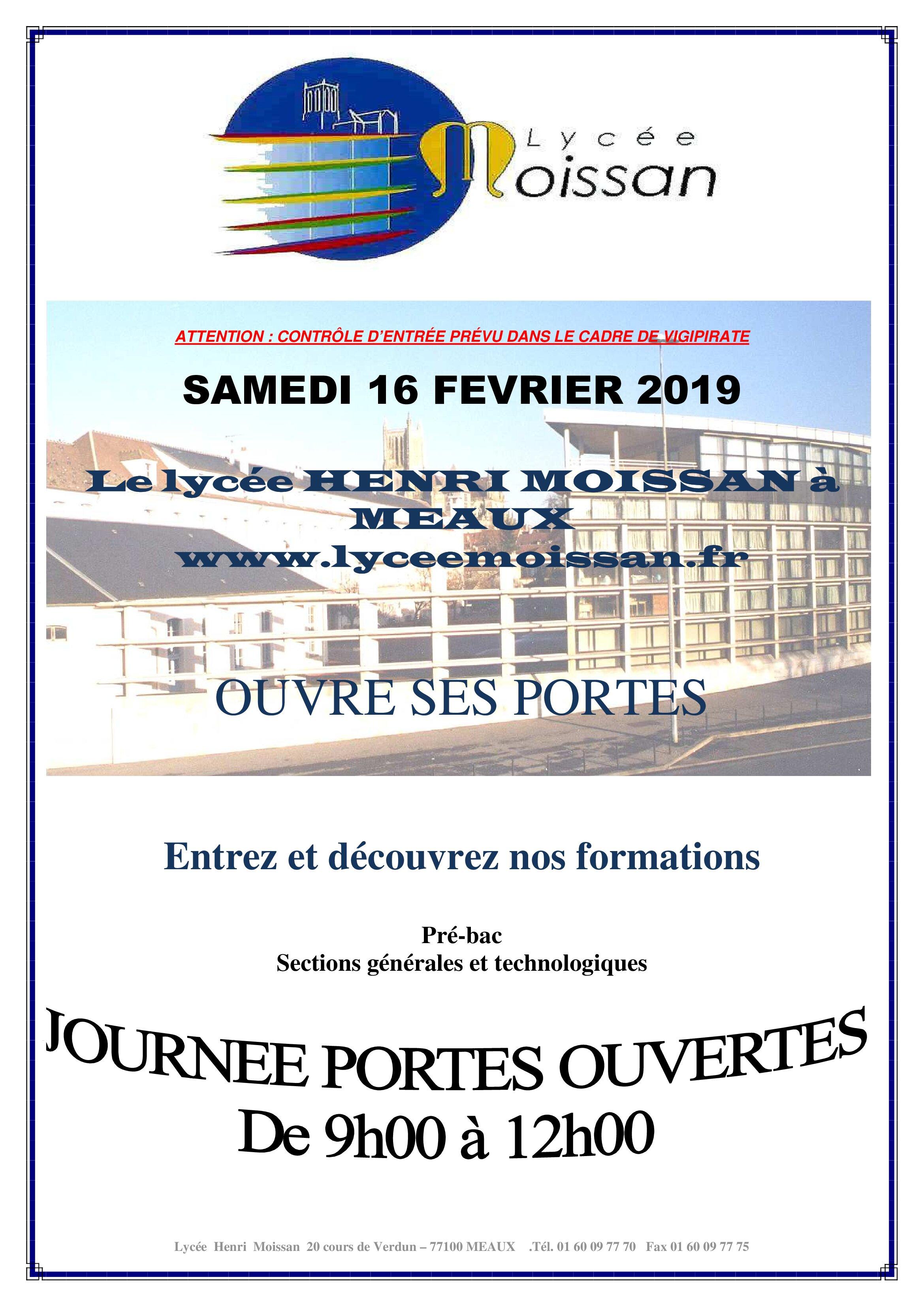 Portes Ouvertes Lycée Moissan Collège Henri Iv